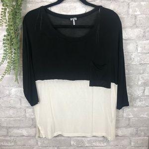 Splendid // Black & White Knit Shirt